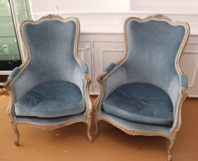 Pair Of Louis Xv Style Fauteuil Armchairs