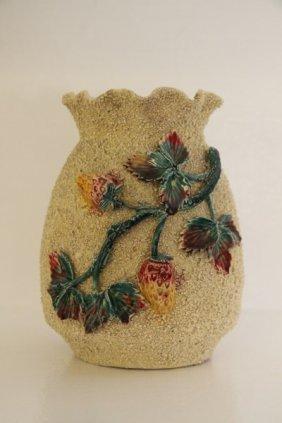 English Salt-glazed Majolica Vase
