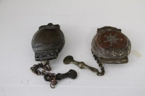 Pair Of Early Chinese Brass And Copper Molds