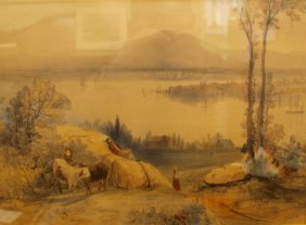 Pair Of Aquatints - Early Canadian Scenes