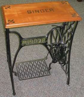 treadle sewing machine base tables