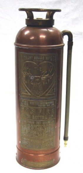 1225 Vintage Elkhart Brass Amp Copper Fire Extinguisher