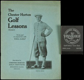 Chester Horton Golf Lessons W/photo Flipbook 1925
