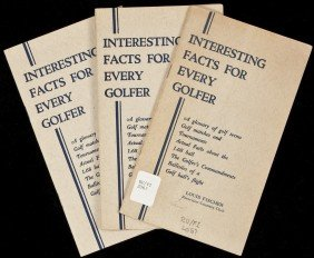 Interesting Facts For Every Golfer 3 Copies 1932