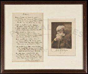 Manuscript Poem By John Burroughs