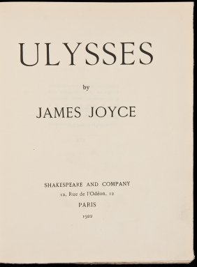 James Joyce Ulysses First Edition 1 Of 750