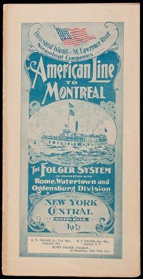 1898 Brochur NY & Hudson River RR Line 2 Montreal