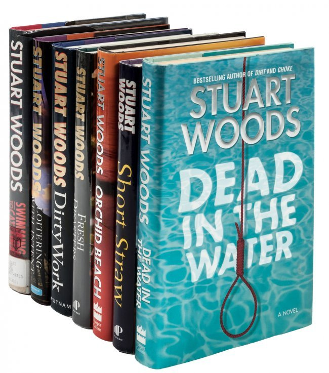 Lot of 12; Stuart Woods; DC dead; White cargo; Cut and thrust..
