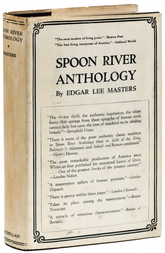 spoon river anthology essays Lucinda matlock - i went to the and cynicism to write spoon river anthology, a collection of monologues from the dead in an illinois essays the blood of the.