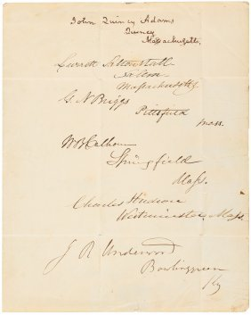 12 Whig Politicians On Inauguration Day 1841