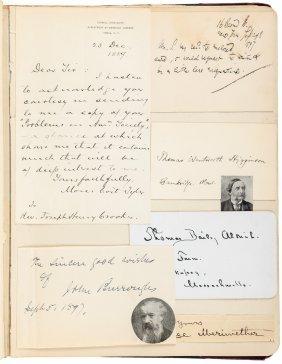 Autographs Of Authors 1898