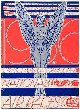 Rare Program For Nationalair Races 1936