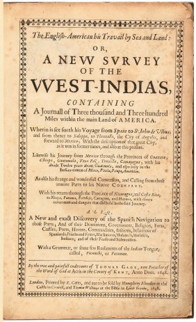 Thomas Gage A New Survey Of The West Indies 1648