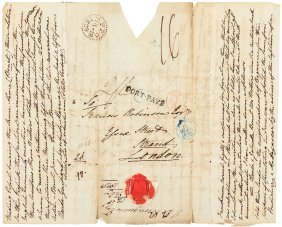1828 Letter About The Legendary African Treasure Of