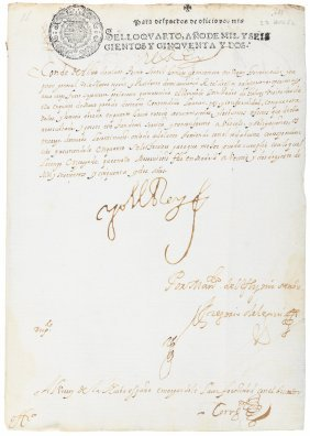 Philip Iv Writes His Viceroy In New Spain 1651-1653