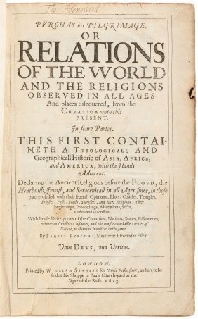 First Edition Of Purchas His Pilgrimage 1613