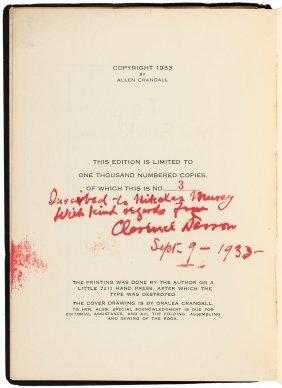 Rare Biography Of Clarence Darrow