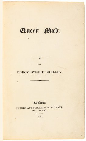 First Published Edition Of Shelley's Queen Mab