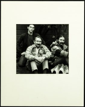 Imogen Cunningham Photograph Of Leo Holub And Sons