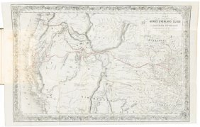 Horn's Overland Guide 1852 With Map