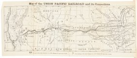 Early Union Pacific Pamphlet With Map