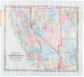 Bancroft's Map Of California, Nevada, 1876