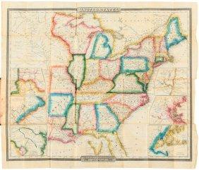 Burr's Folding Map Of U.s. 1833
