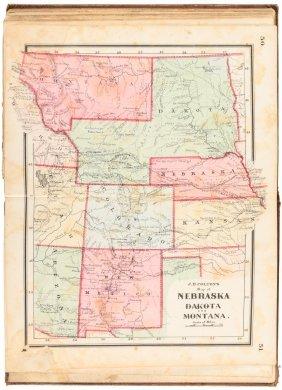 Colton's Atlas Of The Union 1865