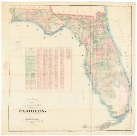 Large Map Of Florida 1884