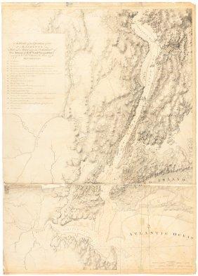 Revolutionary War Map Of New York City Region