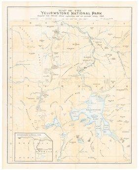 Map Of Yellowstone 1882