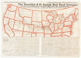 Rare Broadside For Railroad Lands