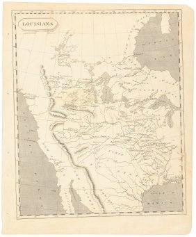 West Before Lewis & Clark 1804 Map