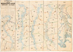 Large Scale Mapping Of Mississippi River 1863