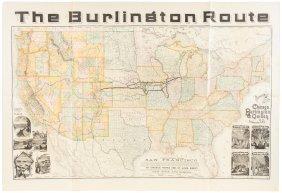 Railroad Map Of U.s. 1883