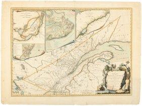 Rare Map Of Quebec 1776