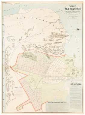 Promotional Map Of South San Francisco C.1890