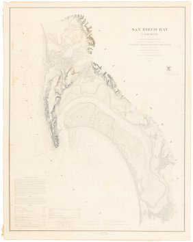 Coast Survey Chart Of San Diego 1859