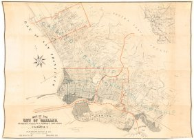 Real Estate Map Of Oakland C.1890