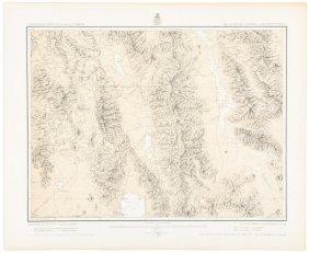 Wheeler Map Of Death Valley Region 1876