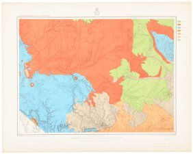 Color Geological Maps Of Arizona & New Mexico Wheeler