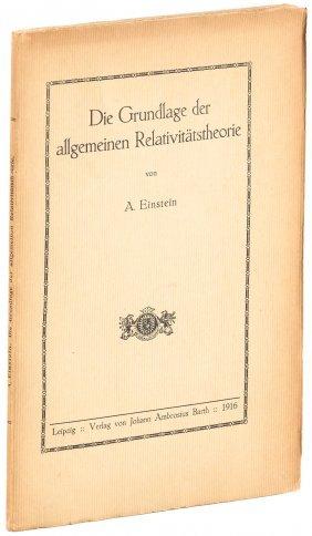 Einstein's Theory Of Relativity 1916