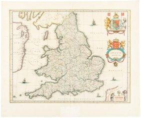 Blaeu Map Of England & Wales 1640