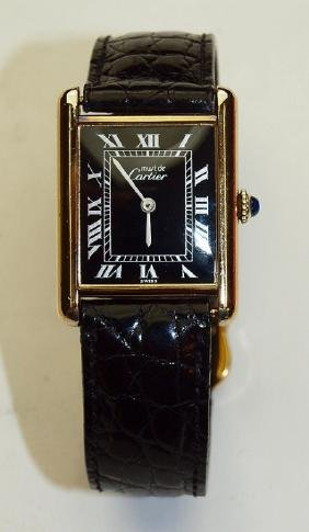 Cartier Wrist Watch With Original Box, Paperwork And 4