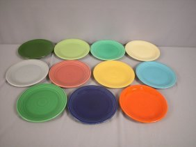 "Feista 7"" Plate Group - All 11 Colors - Medium Gr"
