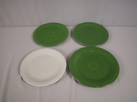 "Feista 9"" Plate Group - 2 Forest Green, 1 Gray An"