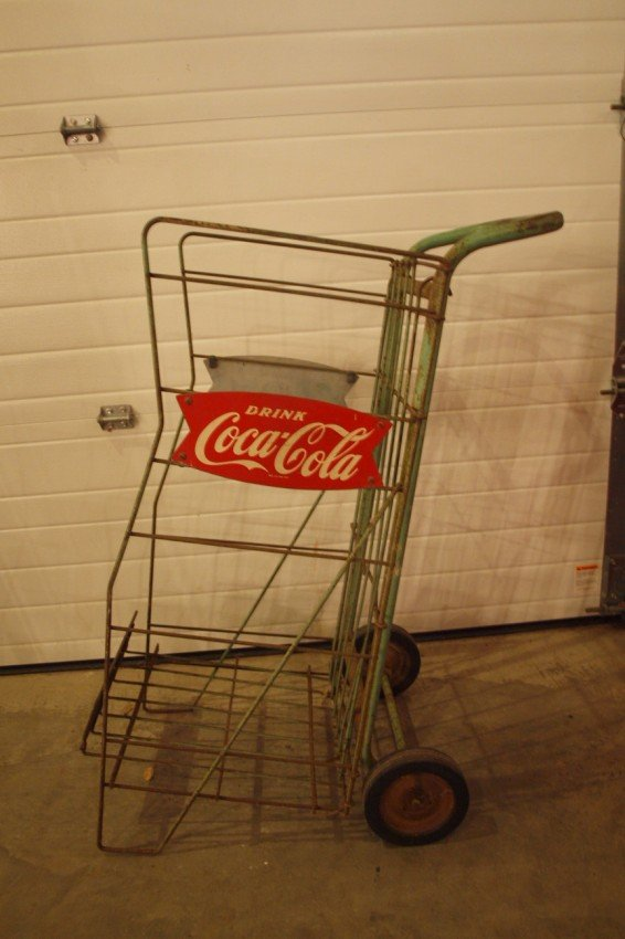 397 grocery store carry out cart with drink coca cola lot 397. Black Bedroom Furniture Sets. Home Design Ideas
