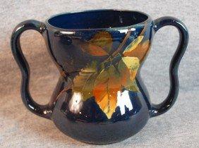 Weller Dickensware Blue Standard Glaze Art Pottery