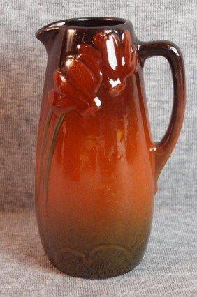 Weller Etna Standard Glaze Art Pottery Ewer, 5 3/4
