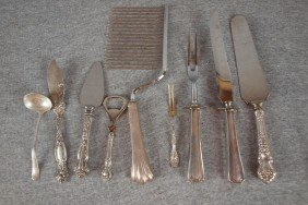 Sterling Silver And Sterling Handled Flatware Servi